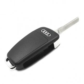 Заготовка выкидного ключа с местом под чип и плату, профиль HU66, количество кнопок: 3