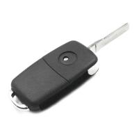 Заготовка выкидного ключа Audi A8 с местом под чип и плату, профиль HU66, количество кнопок: 3_1