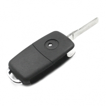 Заготовка выкидного ключа Audi A8 с местом под чип и плату, профиль HU66, количество кнопок: 3