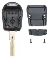 Заготовка ключа с кнопками с местом под чип и плату, профиль HU58,  количество кнопок: 2_2