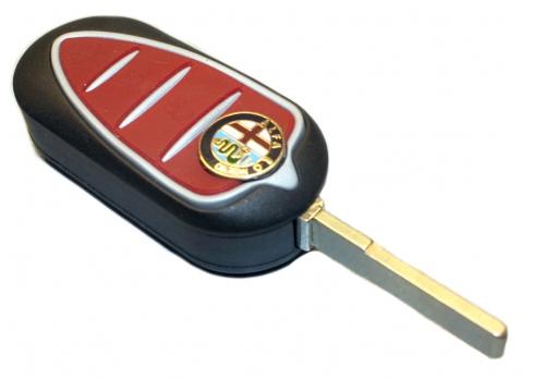 Заготовка выкидного ключа с местом под чип и плату, профиль SIP22, количество кнопок: 3