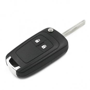 Заготовка выкидного ключа с местом под чип и плату, профиль HU100, количество кнопок: 2