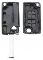 Заготовка выкидного ключа с местом под чип и плату, профиль HU83, количество кнопок: 2_2