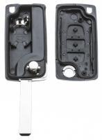 Заготовка выкидного ключа с местом под чип и плату, профиль HU83, количество кнопок: 3_2