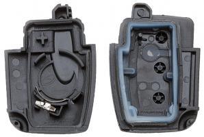Заготовка выкидного ключа с местом под чип и плату, профиль HU101, количество кнопок: 3_3