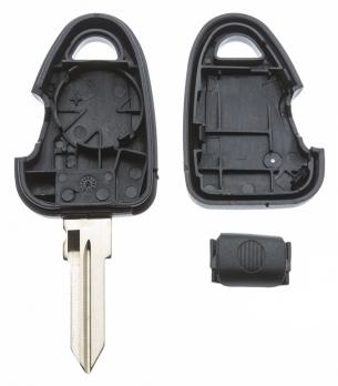 Заготовка ключа с кнопками с местом под чип и плату, профиль GT10, количество кнопок: 1