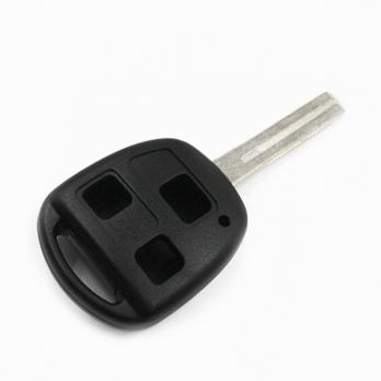 Заготовка ключа с кнопками с местом под чип и плату, профиль TOY48, количество кнопок: 3