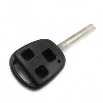 Заготовка ключа с кнопками с местом под чип и плату, профиль TOY40, количество кнопок: 3