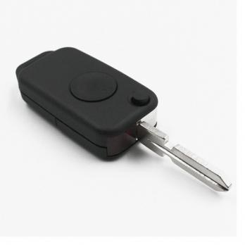 Заготовка выкидного ключа с местом под чип и плату, профиль HU39 количество кнопок: 1