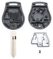 Заготовка ключа с кнопками с местом под чип и плату, профиль NSN14, количество кнопок: 2_2