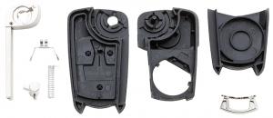 Заготовка выкидного ключа с местом под чип и плату, профиль HU100, количество кнопок: 2_2