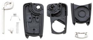 Заготовка выкидного ключа с местом под чип и плату, профиль HU100, количество кнопок: 3_2