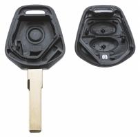 Заготовка ключа с кнопками с местом под чип и плату, профиль HU66, количество кнопок: 2_2