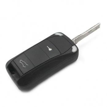 Заготовка выкидного ключа с местом под чип и плату, профиль HU66, количество кнопок: 2