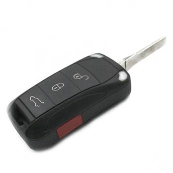 Заготовка выкидного ключа с местом под чип и плату, профиль HU66, количество кнопок: 3+1