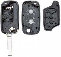 Заготовка выкидного ключа с местом под чип и плату, профиль VA2, количество кнопок:2_2