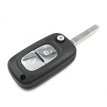 Заготовка выкидного ключа с местом под чип и плату, профиль VA2, количество кнопок:2
