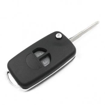 Заготовка выкидного ключа с местом под чип и плату, профиль HU87  количество кнопок: 3