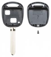 Заготовка ключа с кнопками с местом под чип и плату, профиль TOY43, количество кнопок: 2_2