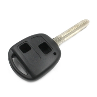 Заготовка ключа с кнопками с местом под чип и плату, профиль TOY43, количество кнопок: 2