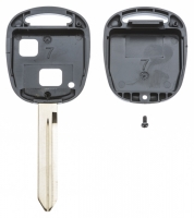 Заготовка ключа с кнопками с местом под чип и плату, профиль TOY47,  количество кнопок: 2_2