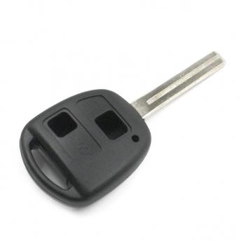 Заготовка ключа с кнопками с местом под чип и плату, профиль TOY40,  количество кнопок: 2