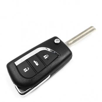 Заготовка выкидного ключа с местом под чип и плату, профиль TOY48,  количество кнопок: 3