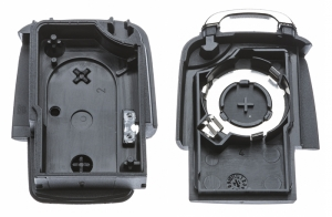 Часть выкидного ключа с местом под уставку платы центрального замка, количество кнопок: 2_2