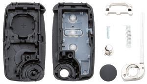 Заготовка выкидного ключа VW Touareg с местом под плату, профиль HU66, количество кнопок:3_2