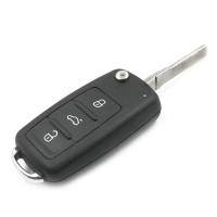 Заготовка выкидного ключа с местом под чип и плату, профиль HU66, количество кнопок:3