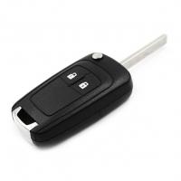 Ключ с платой центрального замка 433/434 Мгц с чипом, профиль HU100 , количество кнопок: 2