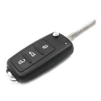 Ключ с платой центрального замка 433/434 Мгц с чипом, профиль HU66 , количество кнопок: 3_0