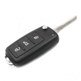 Ключ с платой центрального замка 433/434 Мгц с чипом, профиль HU66 , количество кнопок: 3